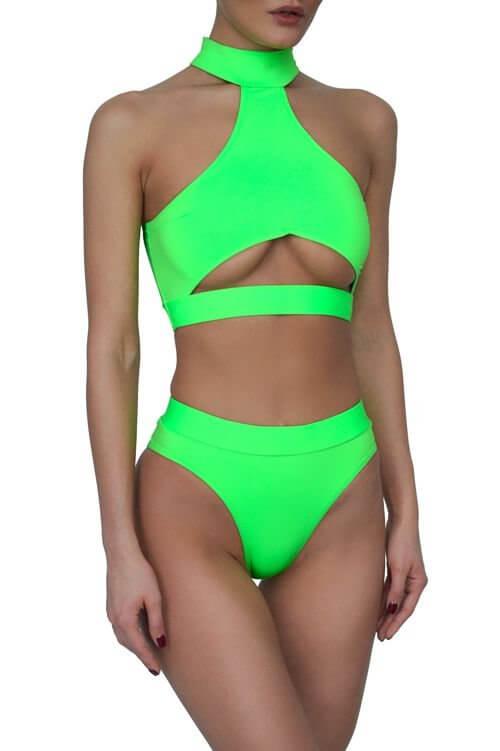 Neon Green Bali Bikini