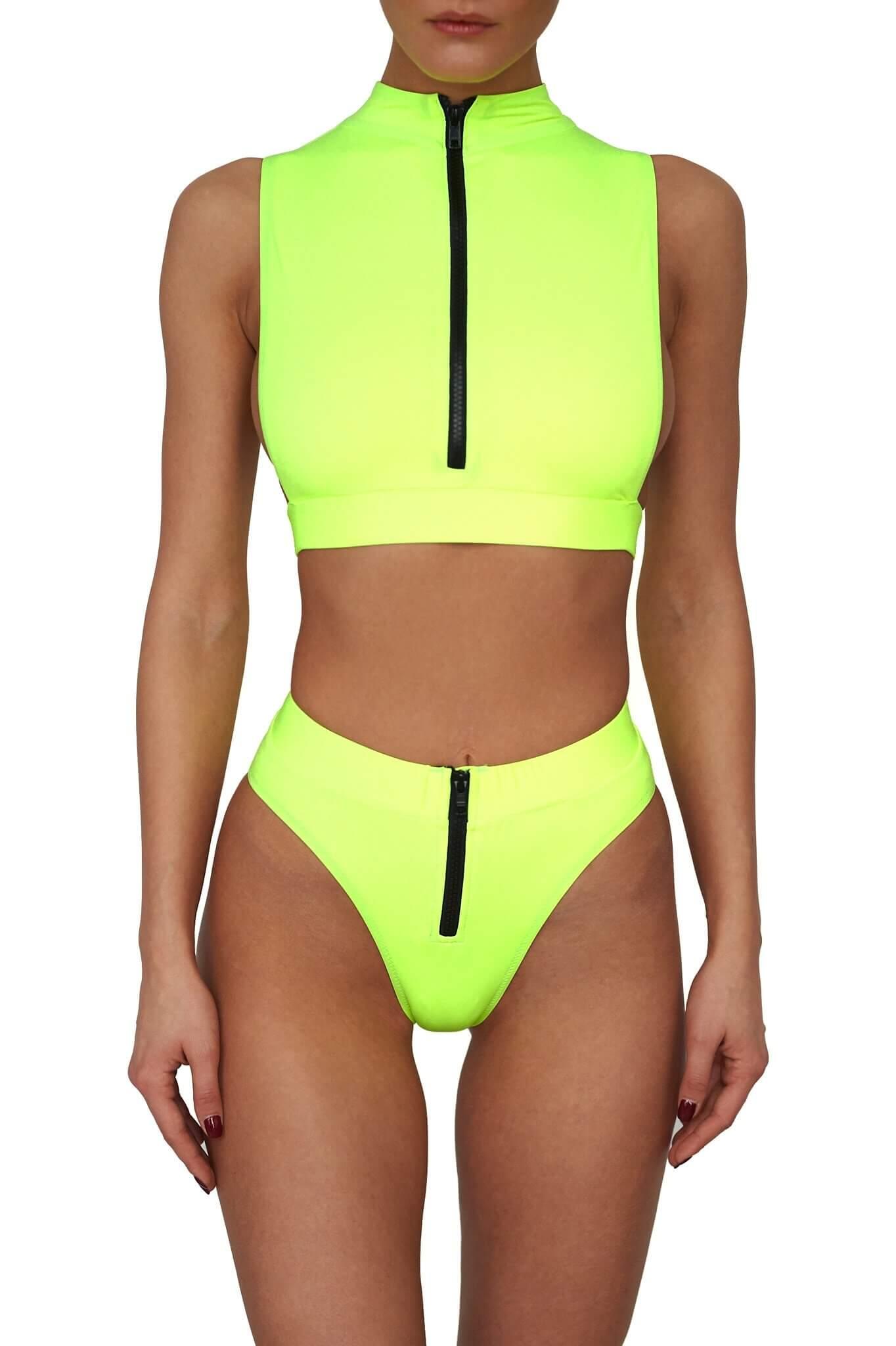 Neon Yellow Malibu Bikini
