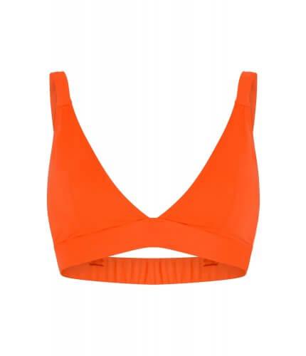 Neon Orange Triangle Bra