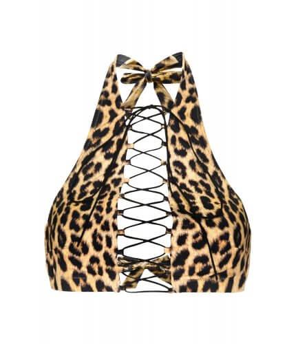 Leopard Addicted Bikini Top