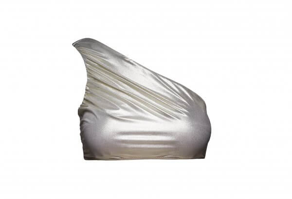 Metallic Pearl One-Shoulder Top