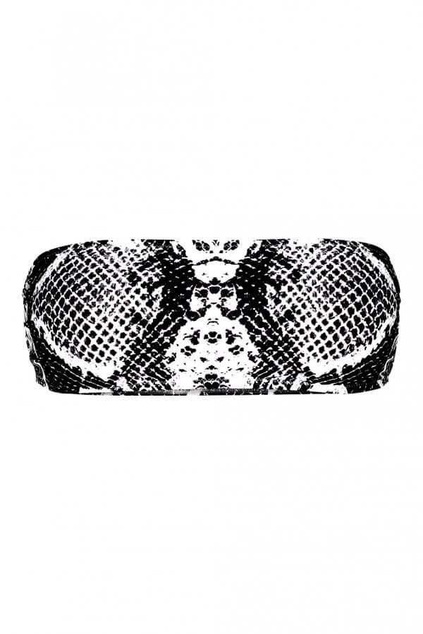 Black Snake Bandeau Top