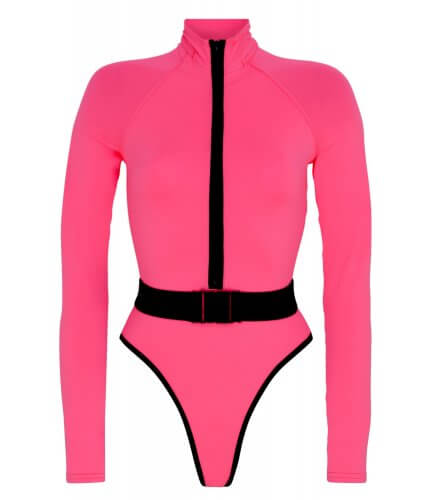 Surf-Up Neon Pink Swimsuit