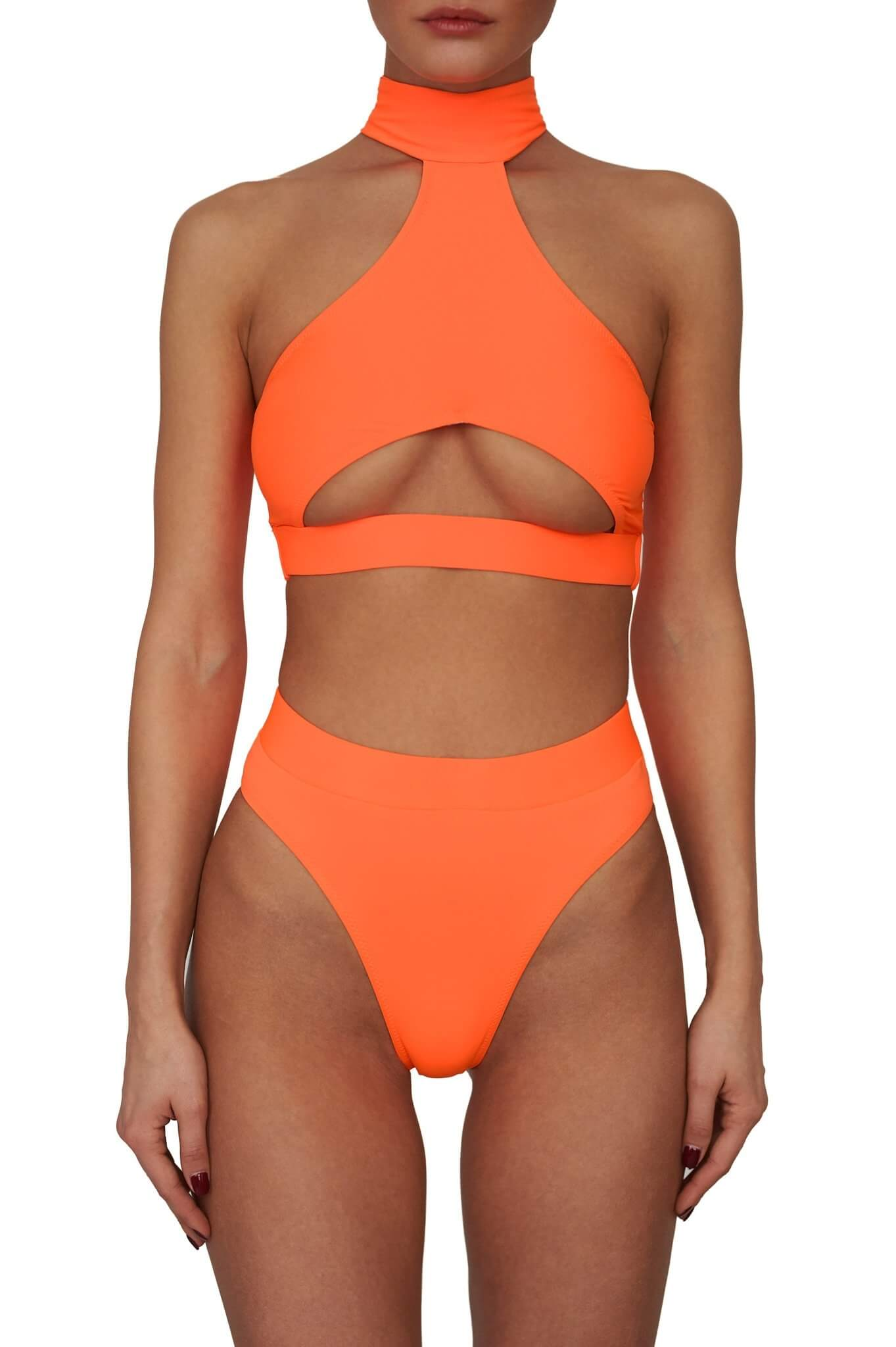 Neon Orange Bahamas Top