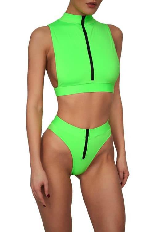 Neon Green Malibu Bikini