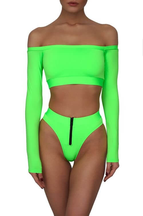 Neon Green Maui Top