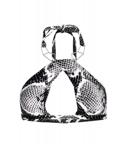 Black Snake Silver Necklace Top