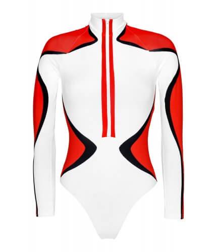 Racer Long Sleeve Bikini Suit