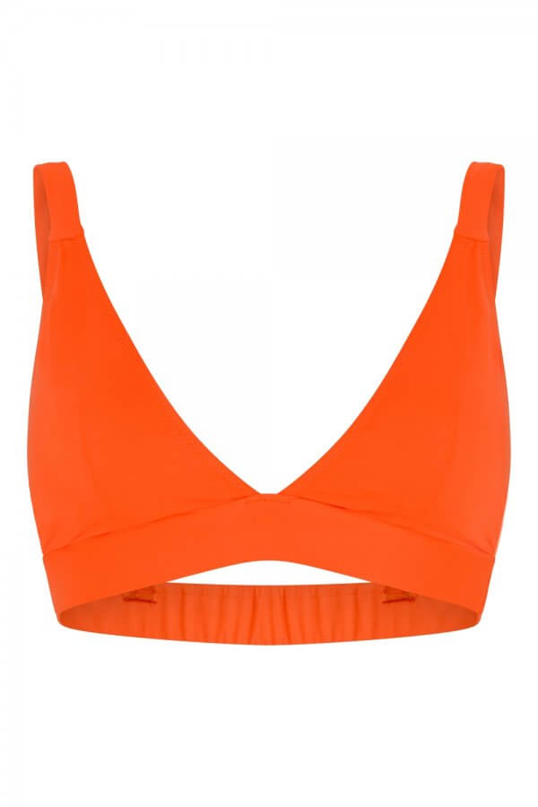 Neon Orange Triangle Bra