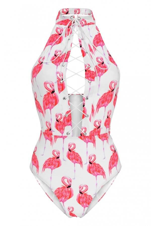 Flamingo Flirt One Piece