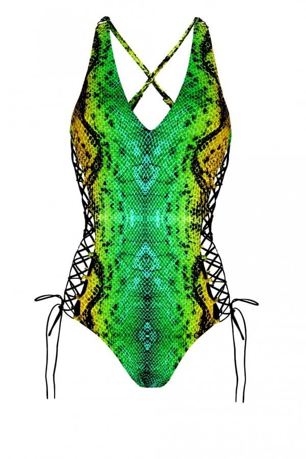 Green Snake Obsession One Piece