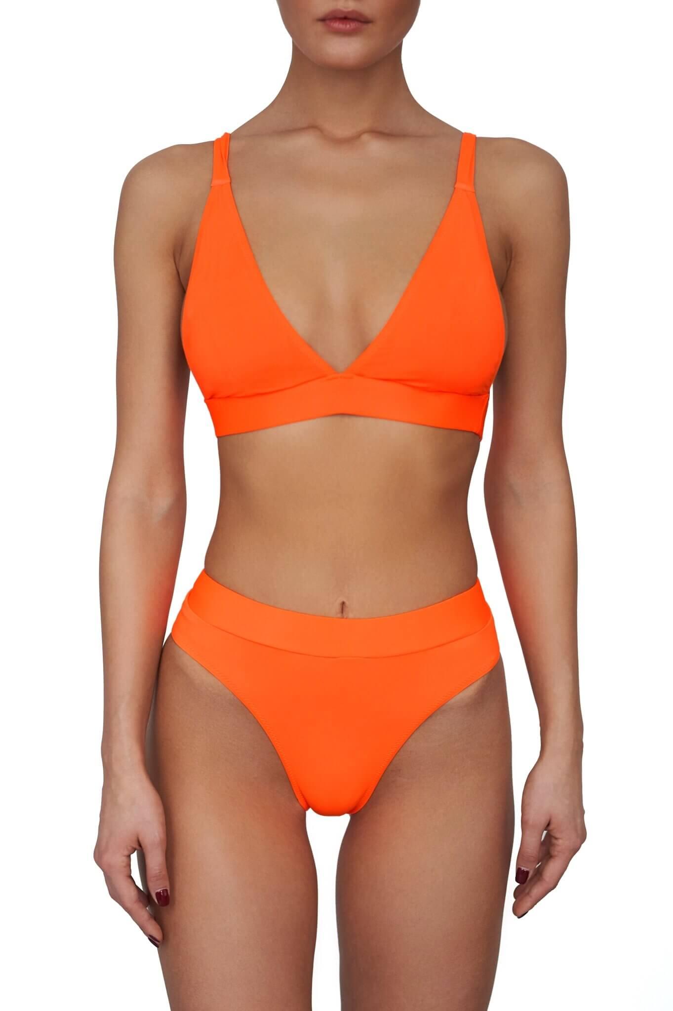 Neon Orange Bali Bikini