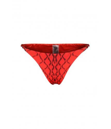 Red Snake Tanning Bikini