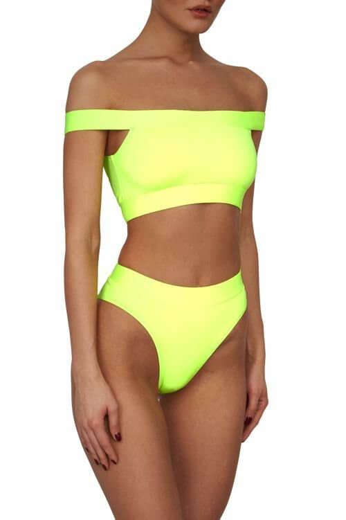 Neon Yellow Maui Top