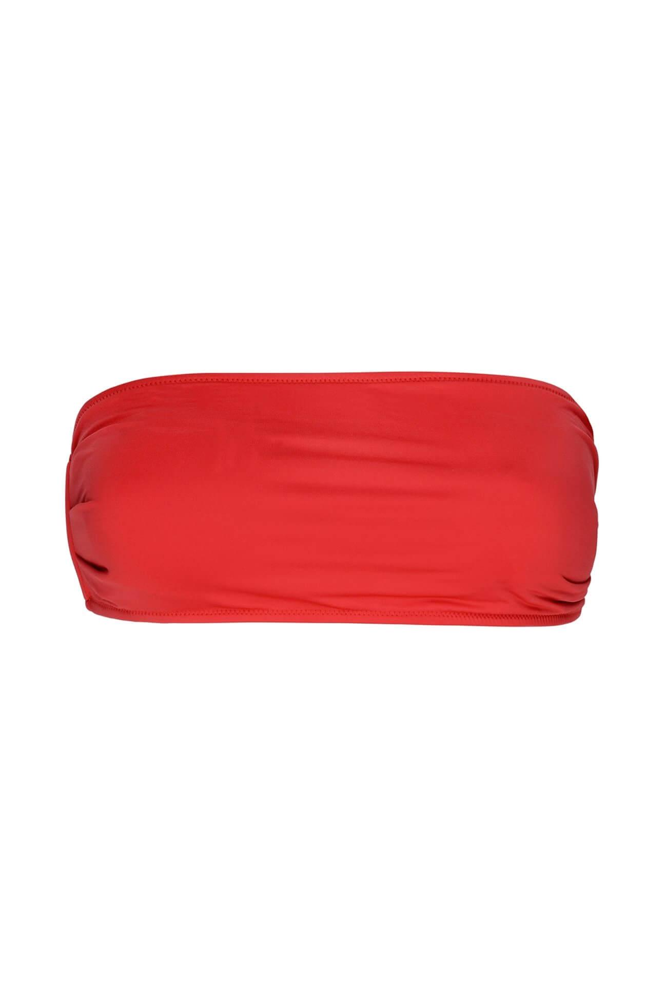 Red One-Shoulder Bandeau