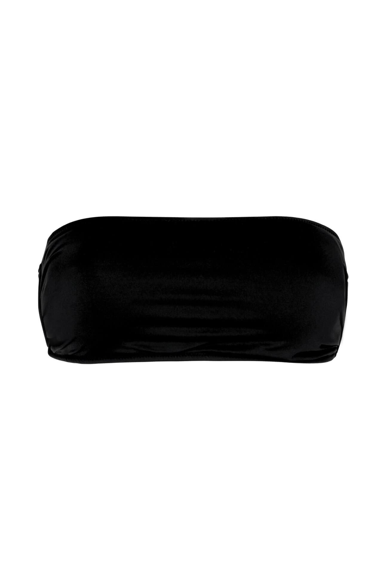 Black One-Shoulder Bandeau