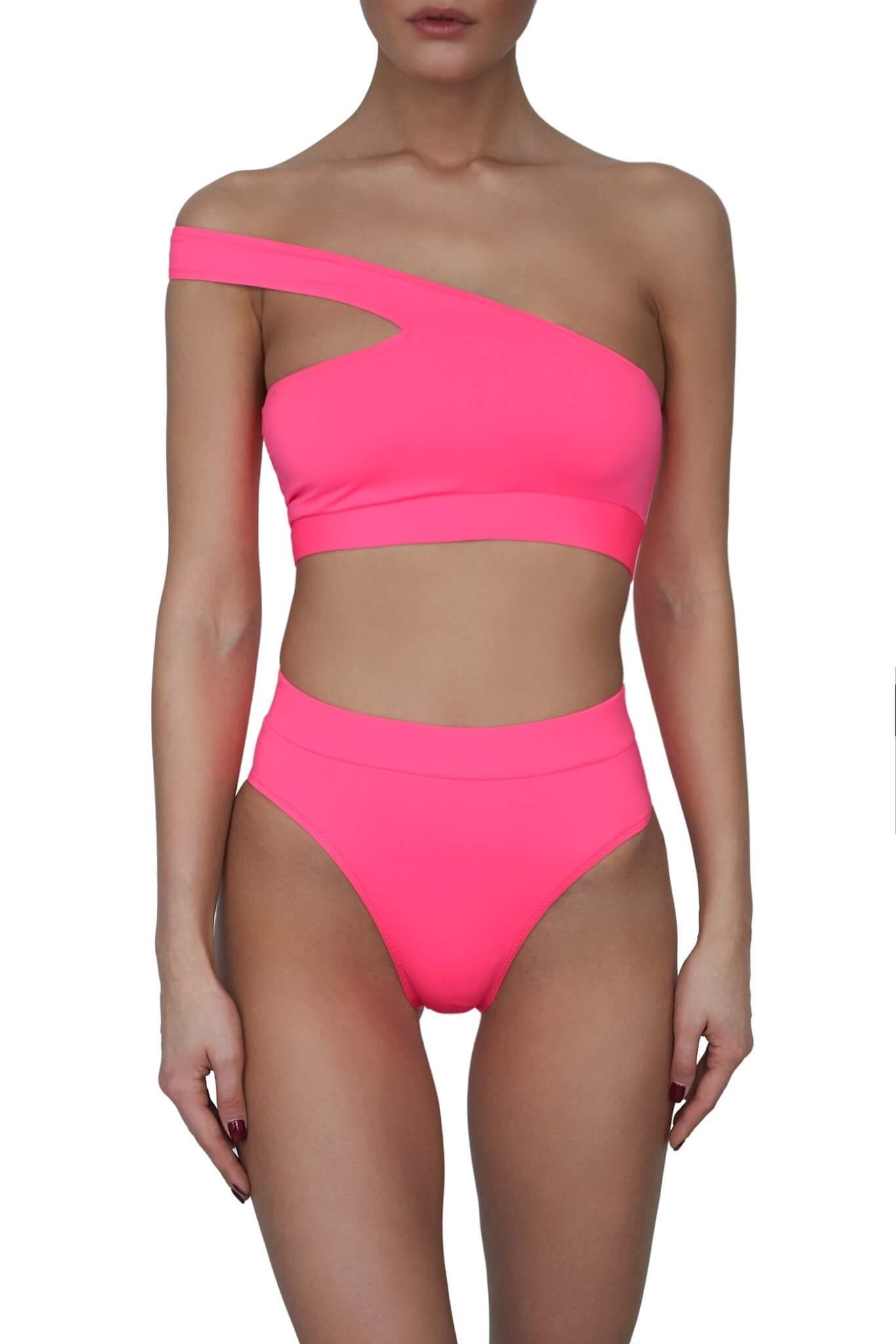 Neon Pink Bali Bikini