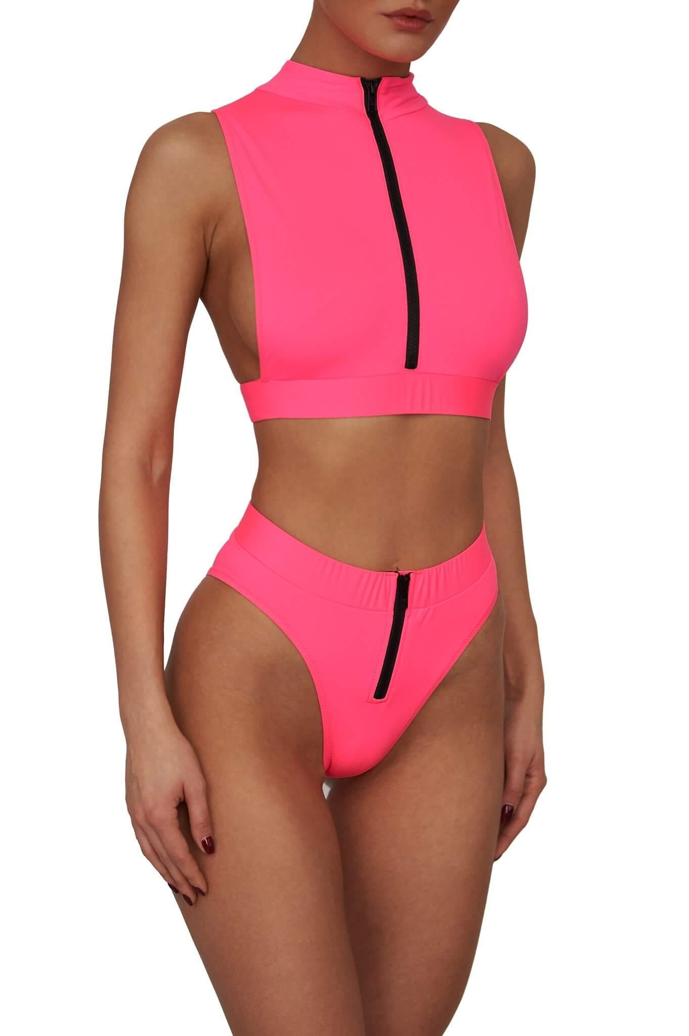 Neon Pink Malibu Bikini
