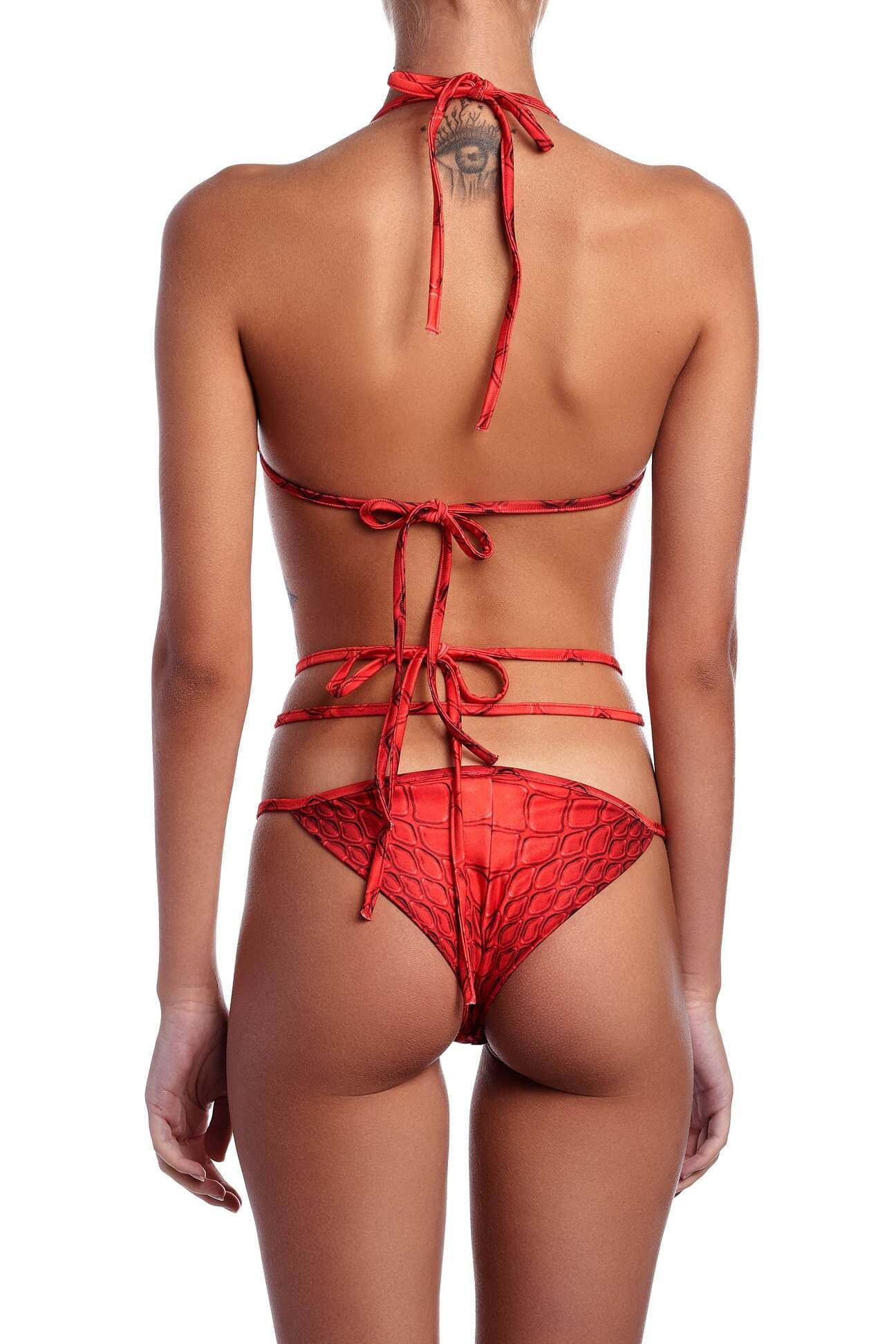 Red Snake Bikini Set 2017