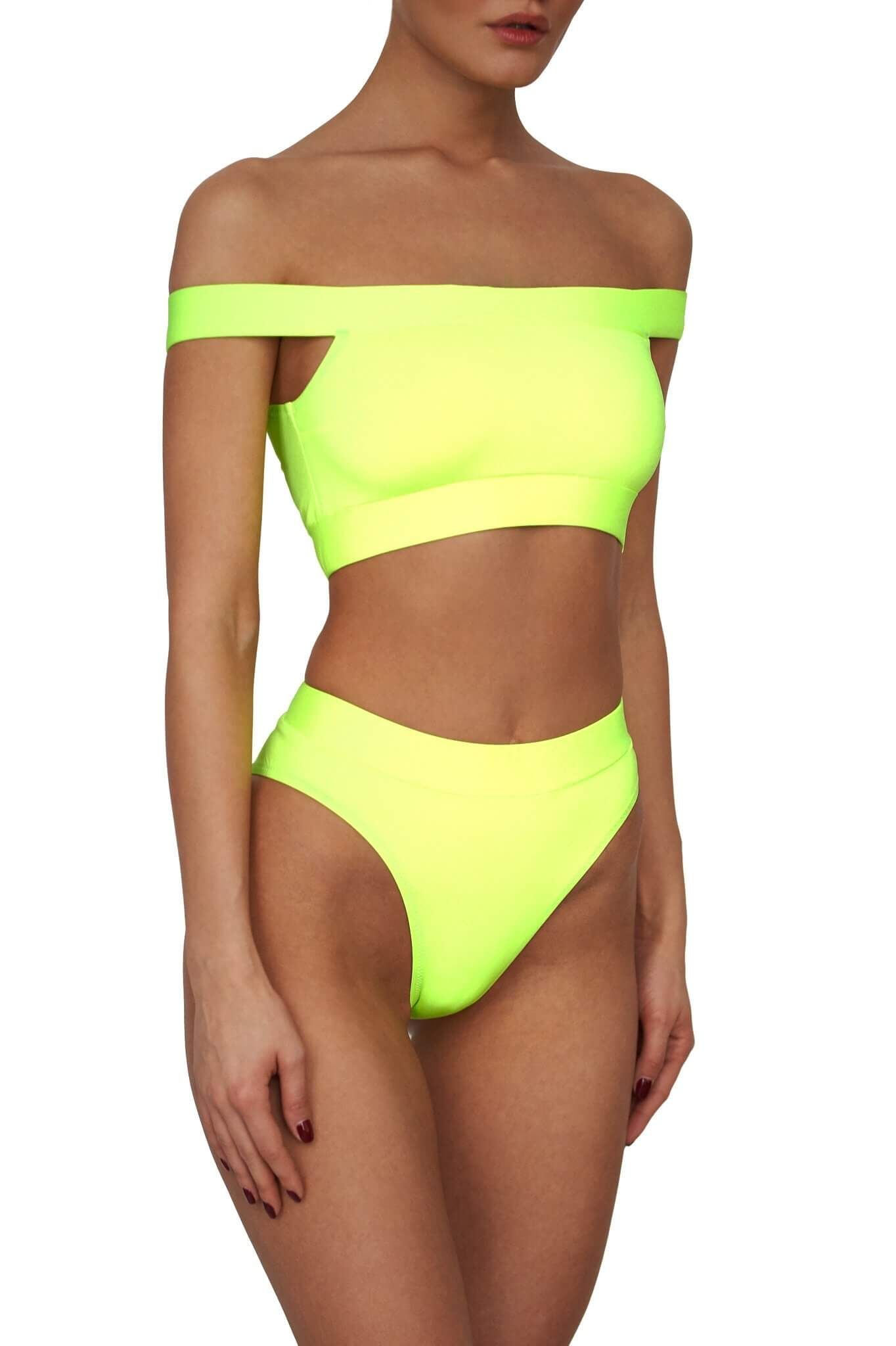 Neon Yellow Maui Top