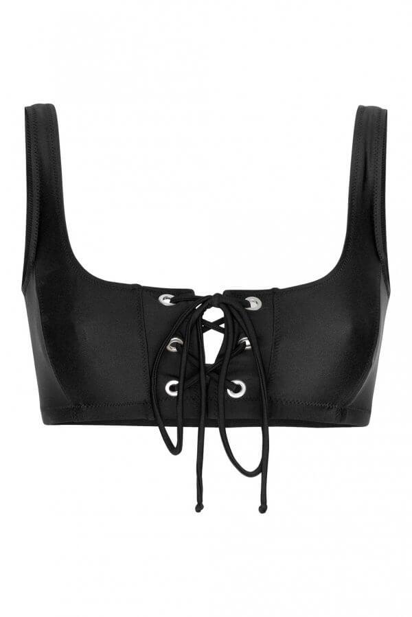 Black Crop Top Bikini