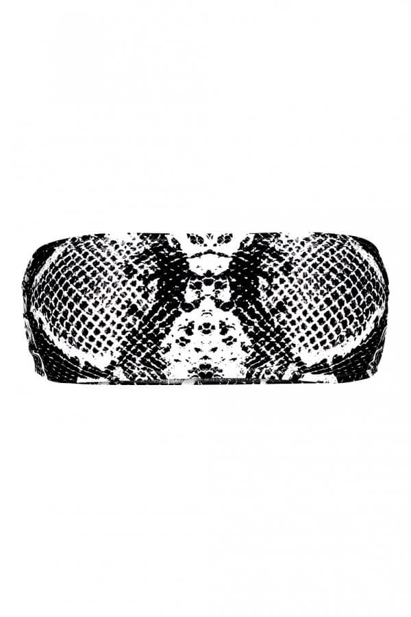 Black Snake Bandeau Top