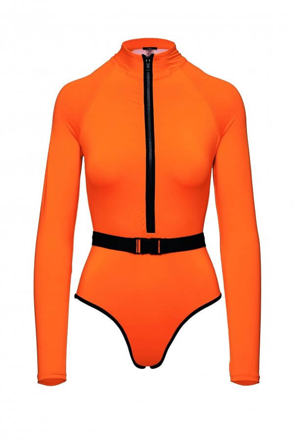 Surf-Up Neon Orange Swimsuit